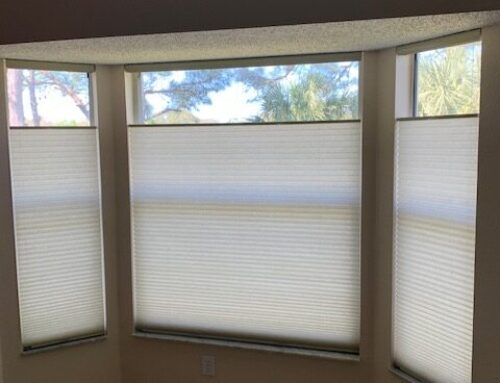 Cordless Honeycomb shades with Top Down Bottom Up Feature.