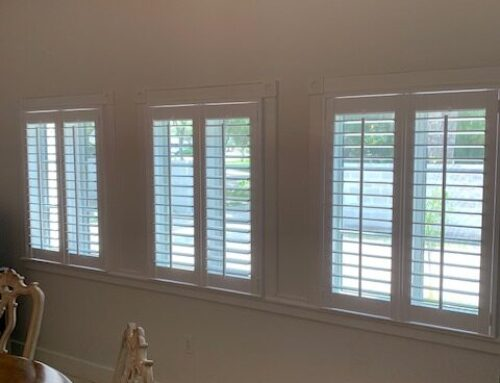 """Norman Shutter install with new 3"""" vanes"""