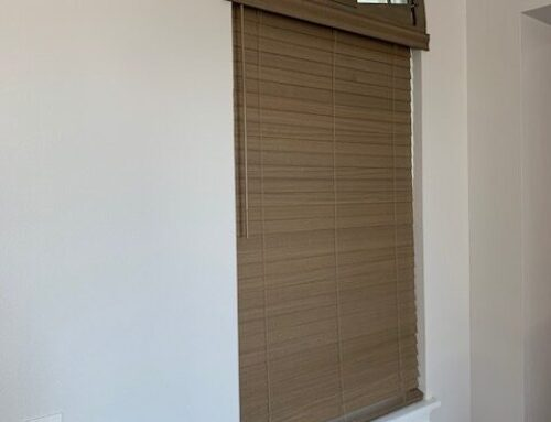 """Highlite Wood Arches above cordless 2 1/2 """" wood blinds from Norman."""